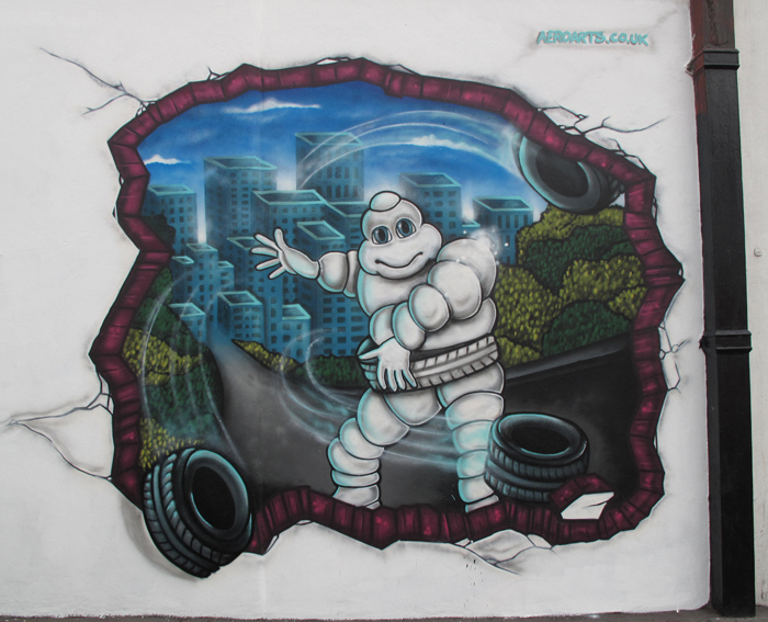 Michelin Man Mural