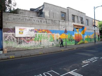 london graffiti mural artist