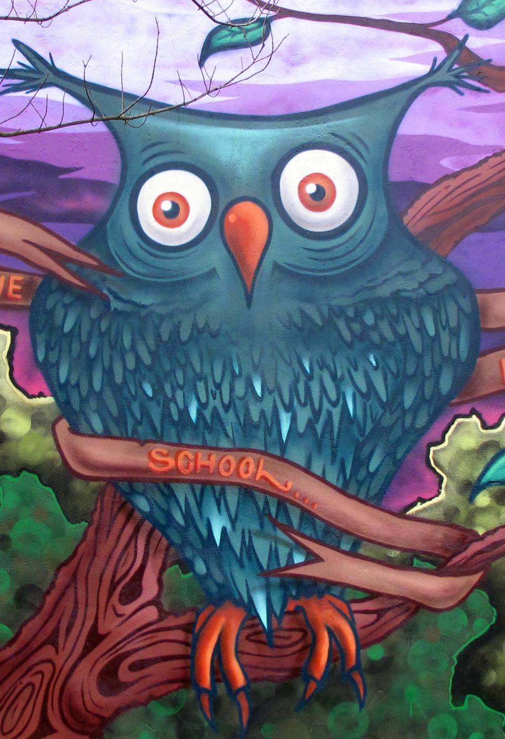 aero london graffiti mural