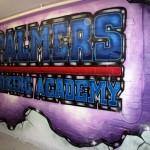 palmer boxing graffiti  mural