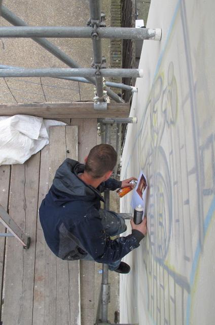 positive arts London Graffiti Mural Artist