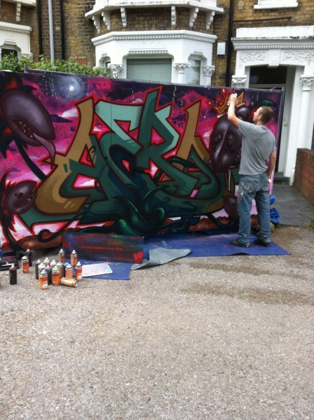 Urban Art Fair Brixton live graffiti painting