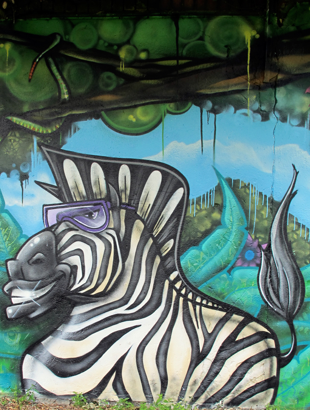 leroy play park graffiti Jungle Mural