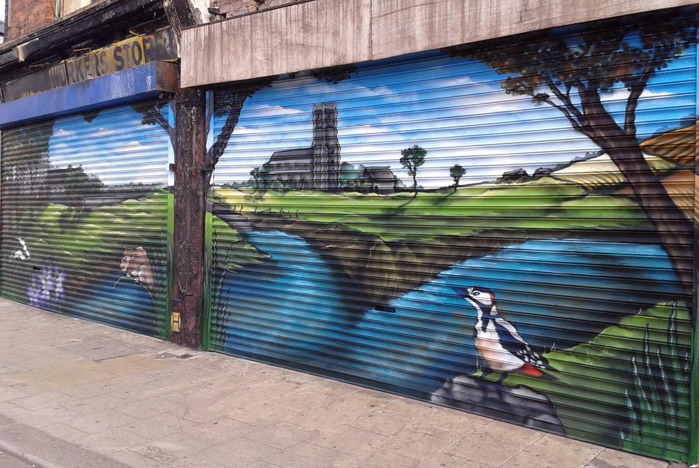 Reeves Corner Shutters Mural