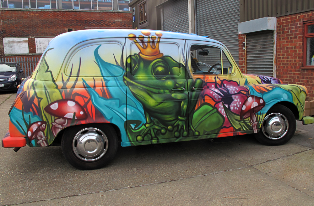Megabooth Graffiti Taxi's