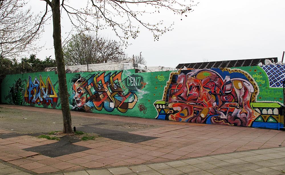 Somerlayton path in Brixton Graffiti Art