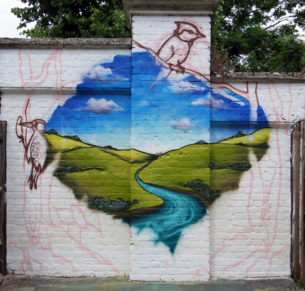 Aero london graffiti mural artist for Mural garden