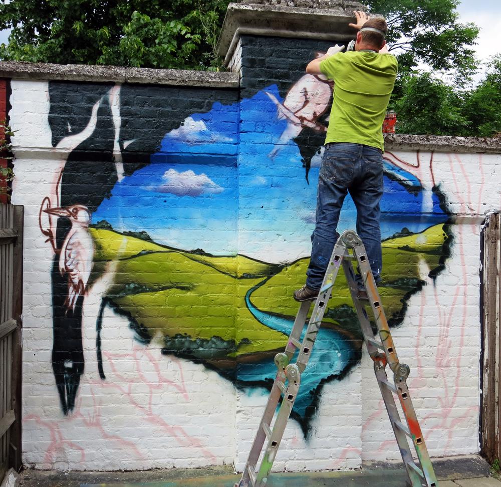 Garden Wall Graffiti Mural