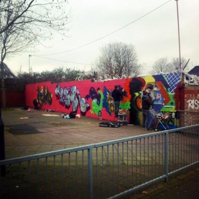 brixton graffiti jam aero cenz solo tizer snoe