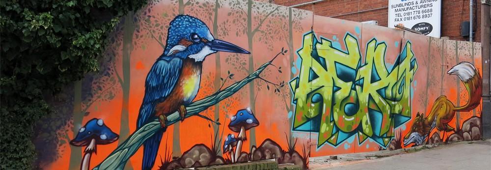 Sydenham community graffiti mural