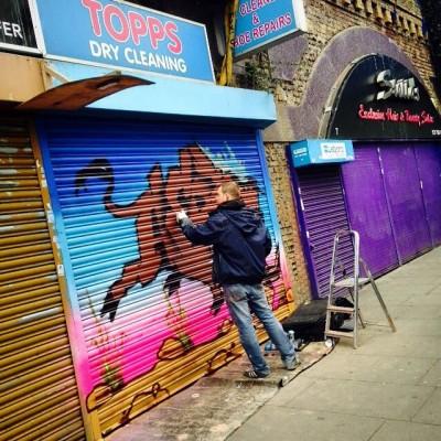 brixton graffiti mural artist