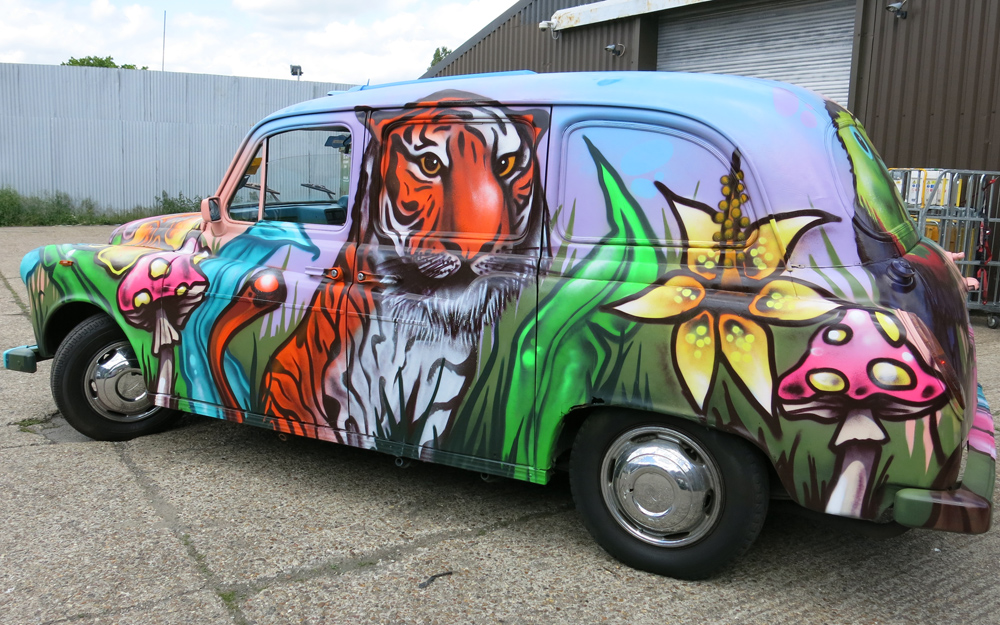 Megabooth Animal Themed Graffiti Taxis London