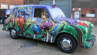 Megabooth Animal Themed Graffiti Taxis London