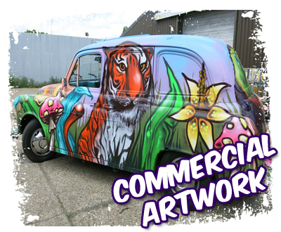 Commercial graffiti artwork