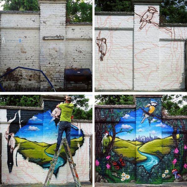 garden graffiti mural artist