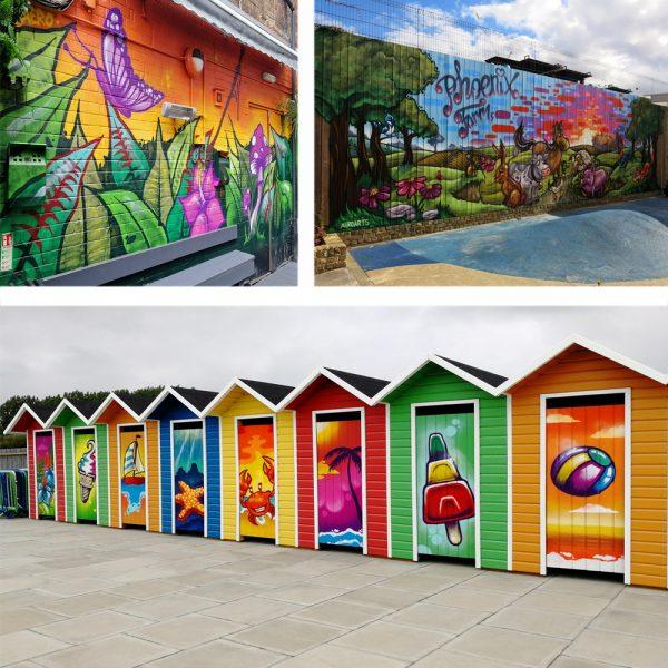 commercial graffiti mural artist