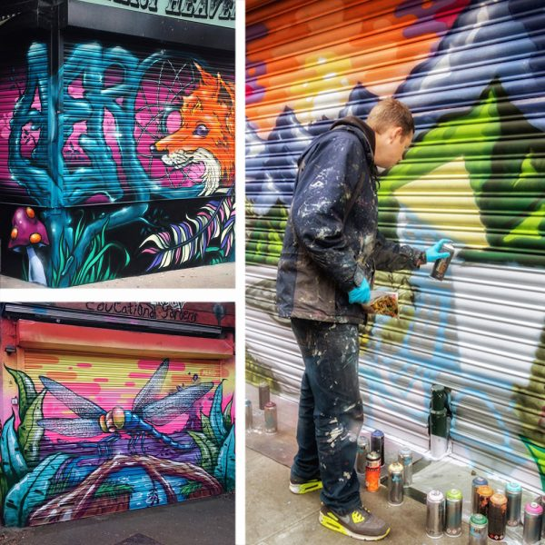 graffiti shutter mural artist