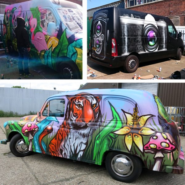 transit graffiti mural artist