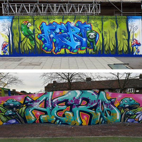 graffiti production mural artist