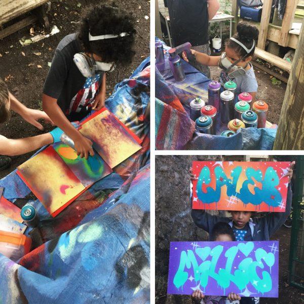aeroarts graffiti stencil board youth workshop