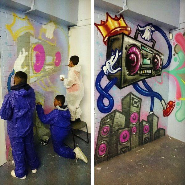 aeroarts graffiti mural youth workshop