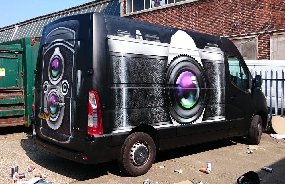 Megabooth camera van