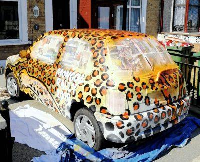 tiger graffiti car