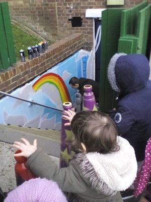 graffiti school mural