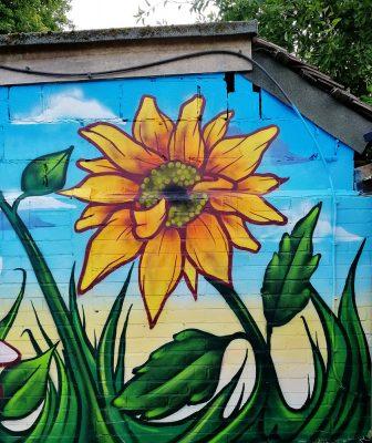 garden graffiti mural