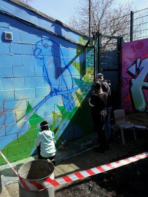 wildlife graffiti mural workshop