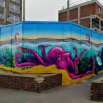 sea life graffiti mural