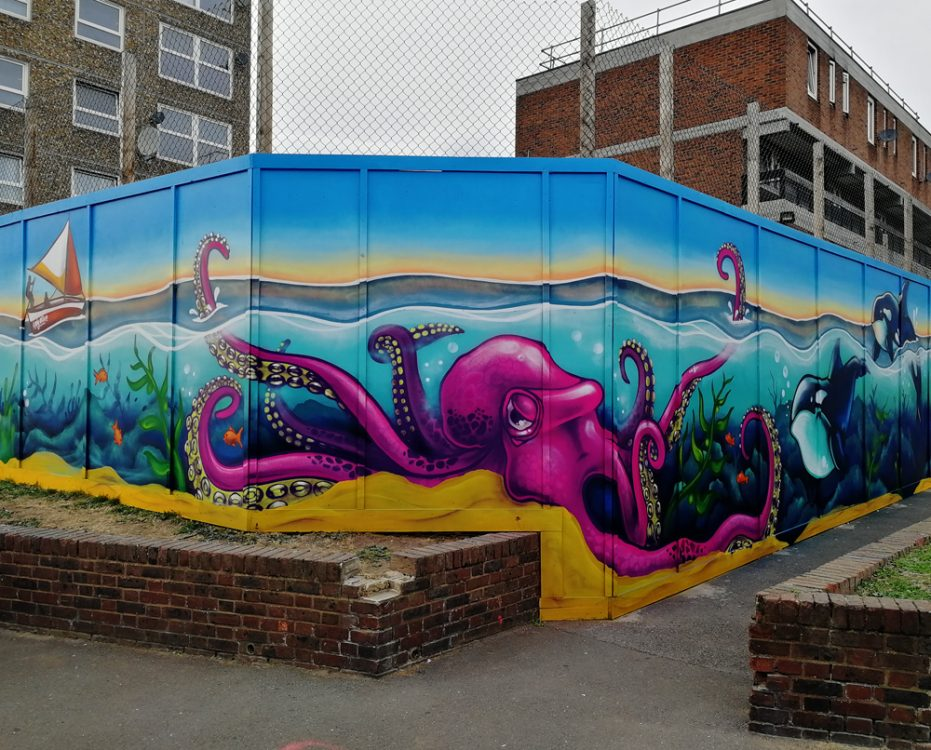 Ledbury sea life mural