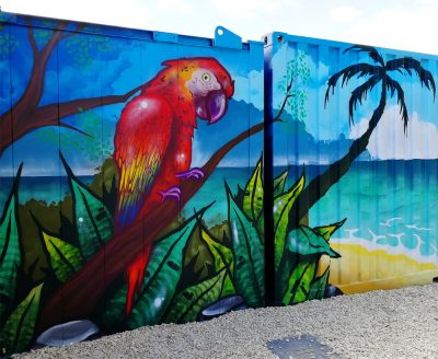 wild life graffiti mural