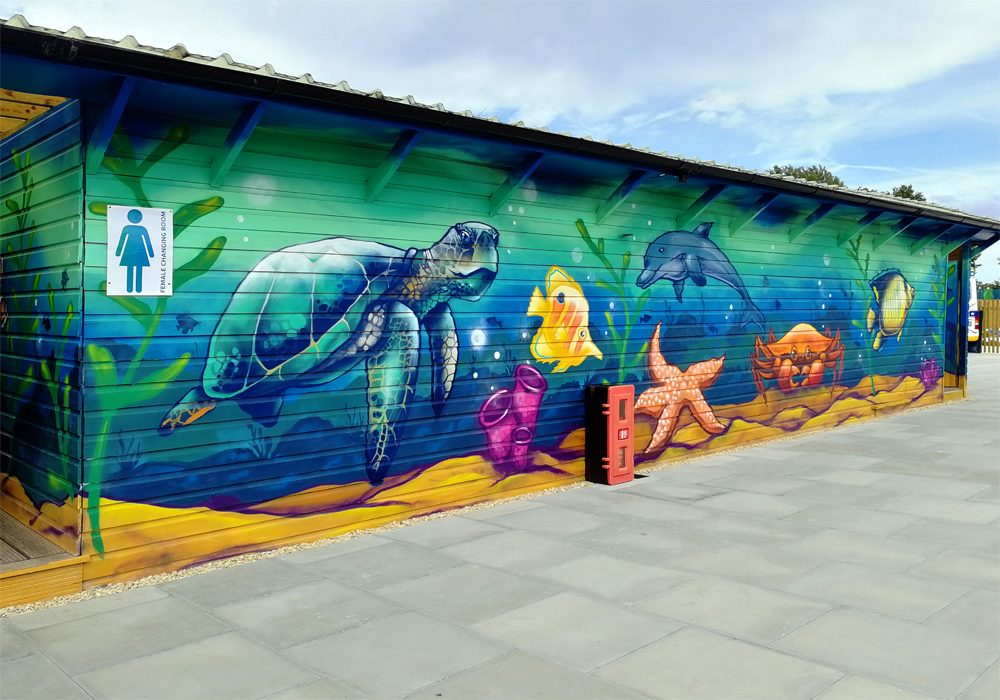 Liquid Leisure sea life mural