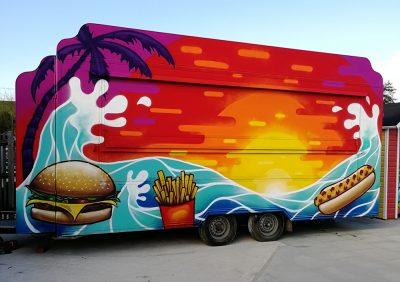 graffiti burger van