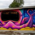octopus graffiti mural
