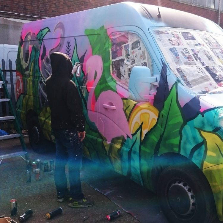Summer van graffiti