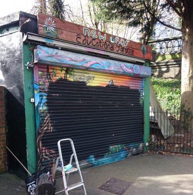 graffiti shutter mural