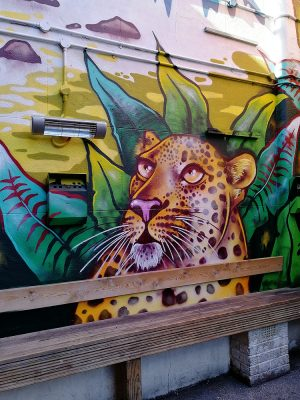jungle graffiti mural