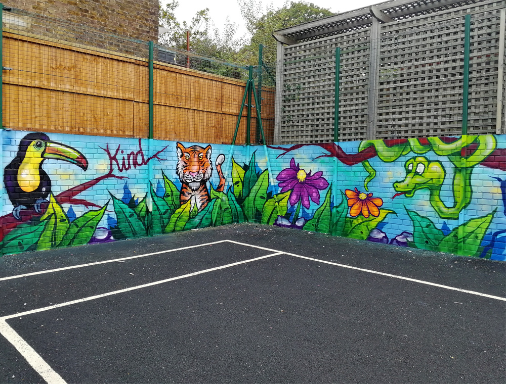 holy trinity school mural